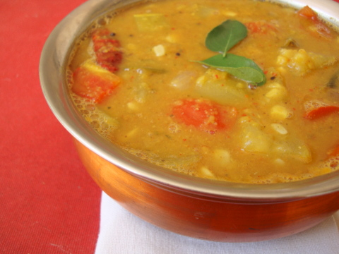 Sambhar - South Indian Lentil Stew