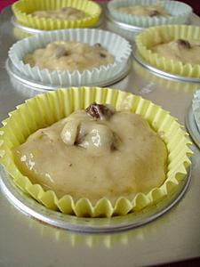 Banana muffins batter before baking