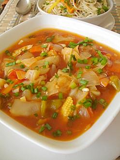 Vegetables in spicy garlic sauce