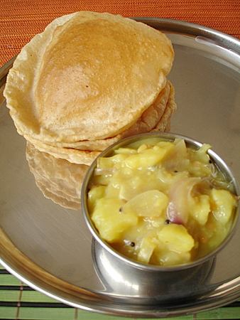 Puri potato curry indian food recipes food and cooking blog puri potato curry forumfinder Images