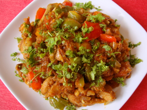 Capsicum Chicken Indian Food Recipes Food And Cooking Blog