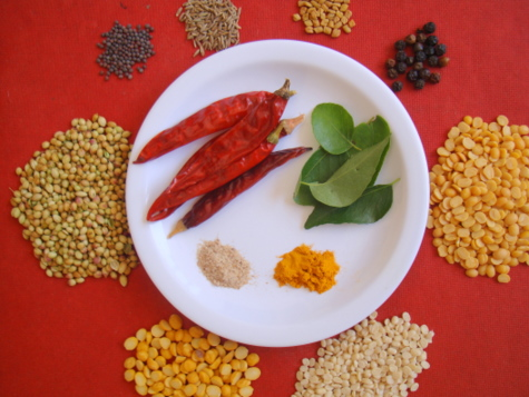 sambhar-podi-ingredients