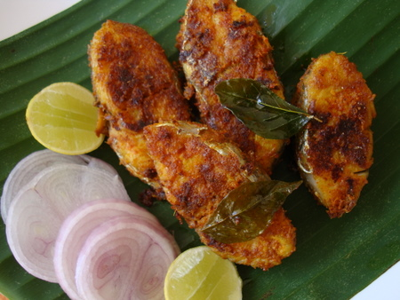 Fish  Recipe on Spicy Fish Fry   South Indian     India Travel Forum   Indiamike Com
