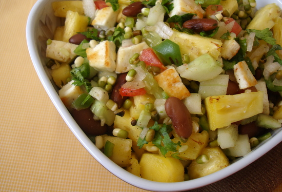 Raw food pineapple paneer salad indian food recipes food and raw food pineapple paneer salad forumfinder Gallery