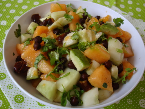 black-chickpea-fruit-salad