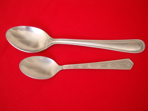 Tablespoon & Teaspoon used for my daily Indian cooking