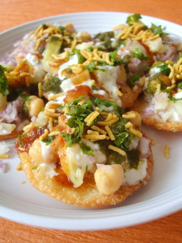 Indian street food - Papri Chaat
