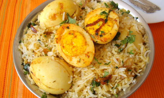 Egg Biryani Recipe Anda Dum Biryani