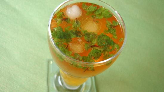 Summer Coolers ~ Iced Lemon Mint Tea