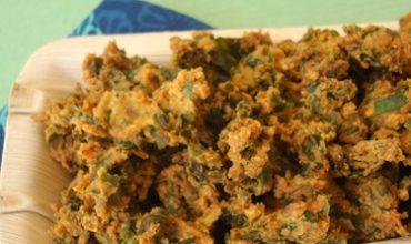 palak pakoda spinach fritters