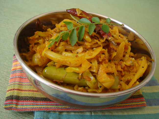 Cabbage Fry Recipe Andhra Style Recipe