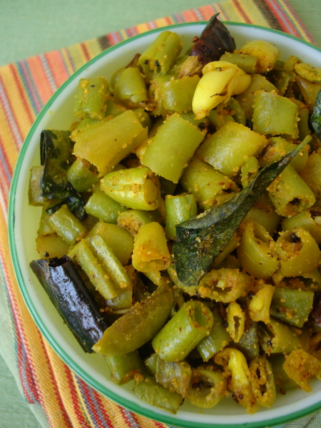 french beans stir fry indian vegetarian
