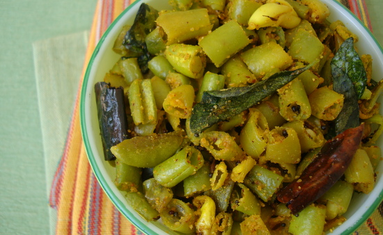 recipe with bean andhra style