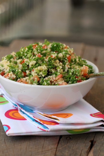 Lebanese Tabbouleh with Couscous