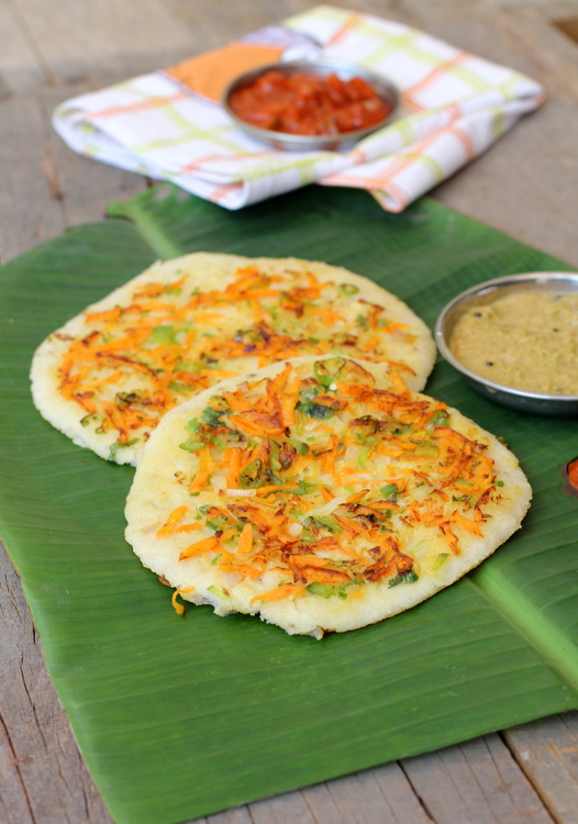 indian style oats uthappam