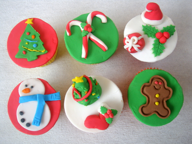 christmas fondant toppers