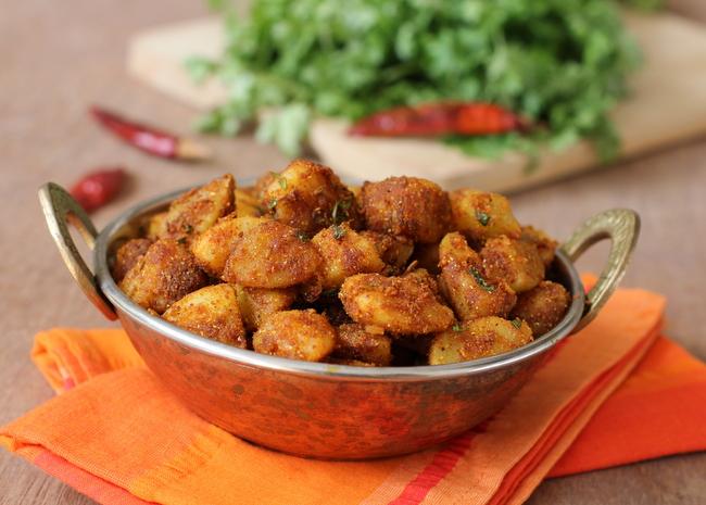 Potato roast quick simple recipes north indian style aloo fry potato roast forumfinder Images
