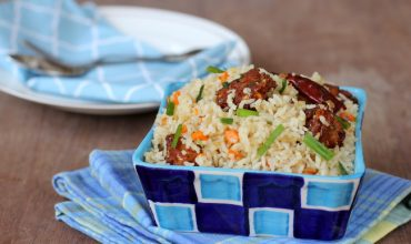 corn manchurian fried rice