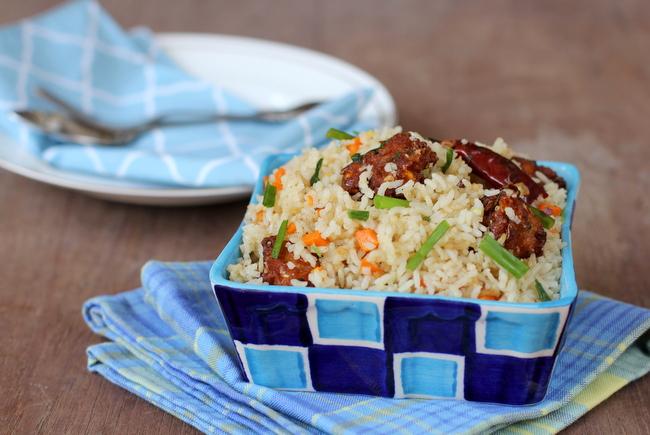 corn manchurian fried rice