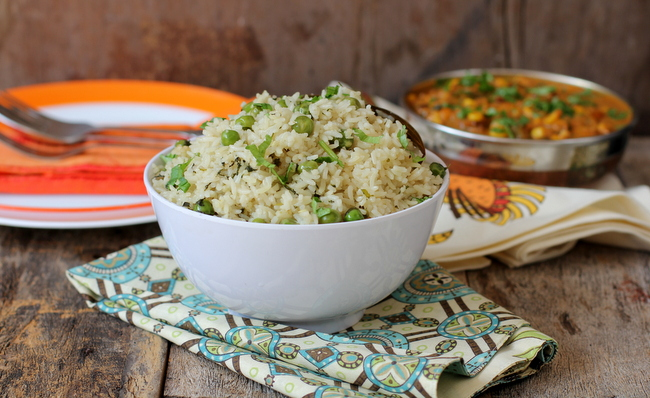 Peas pulao vegetarian rice recipes north indian dishes peas pulao forumfinder Gallery