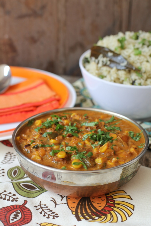 Sweet corn curry corn recipes indian vegetarian dishes forumfinder Gallery