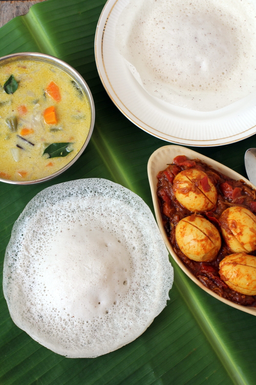 Appam recipe kerala breakfast recipes healthy and easy for Appam and chicken stew kerala cuisine