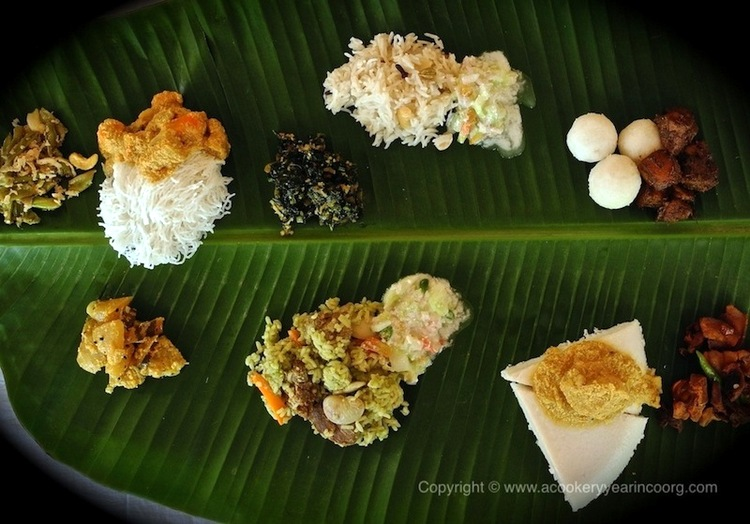 Kodava cuisine coorg food indian food trail coorg food wedding spread forumfinder Image collections