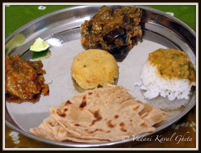maharashtrian chapati thali