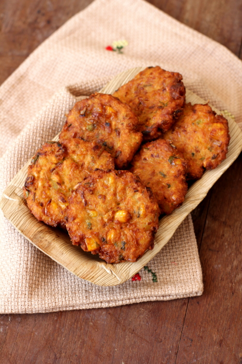 Corn vada andhra style recipe indian corn recipes vegetarian forumfinder Images