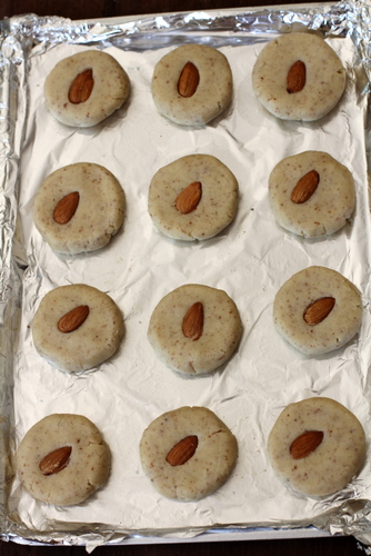 almond cookies before baking