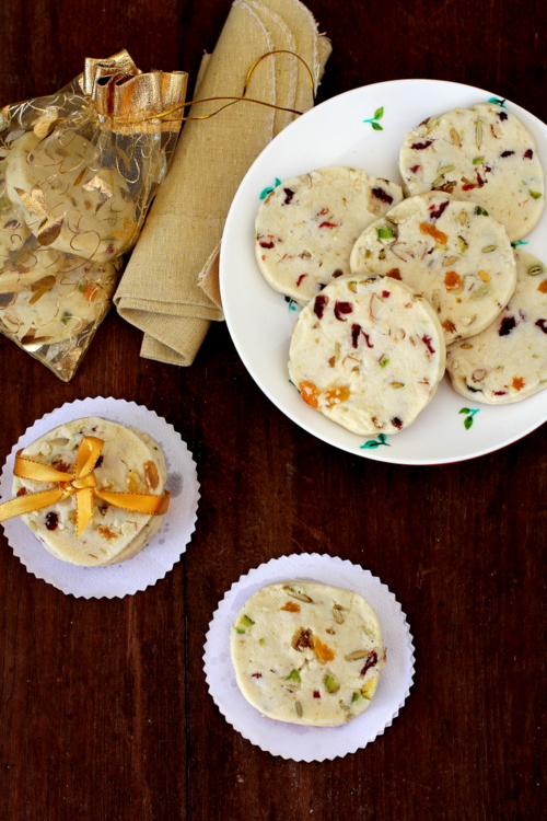 Fruit And Nut Shortbread Cookies