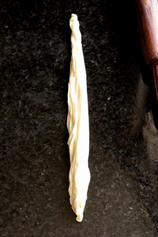 parotta dough pleated