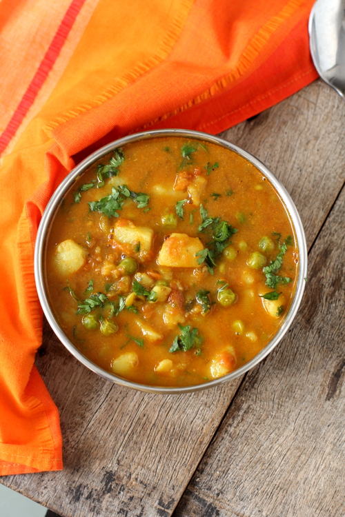 Aloo Matar Recipe Of Aloo Matar Curry Easy Vegetarian Curry