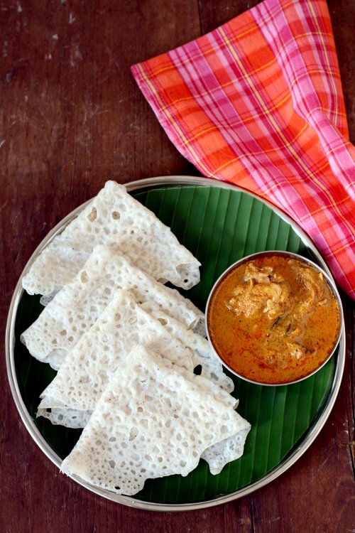 Neer dosa recipe how to make neer dosa with chicken curry neer dosa recipe forumfinder Choice Image