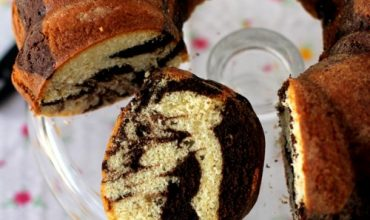 eggless marble bundt cake