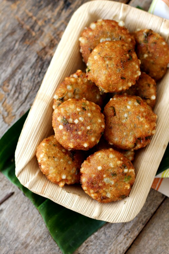 sabudana vada recipe - saggubiyyam vadalu -sago vada- sabudana recipes