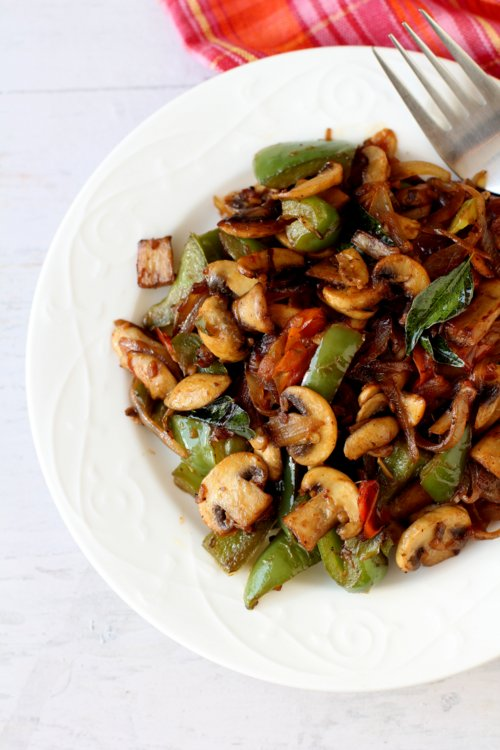 how to make mushroom pepper fry