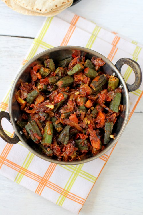 Bhindi Masala Recipe Hotel Style North Indian Bhindi Okra Fry