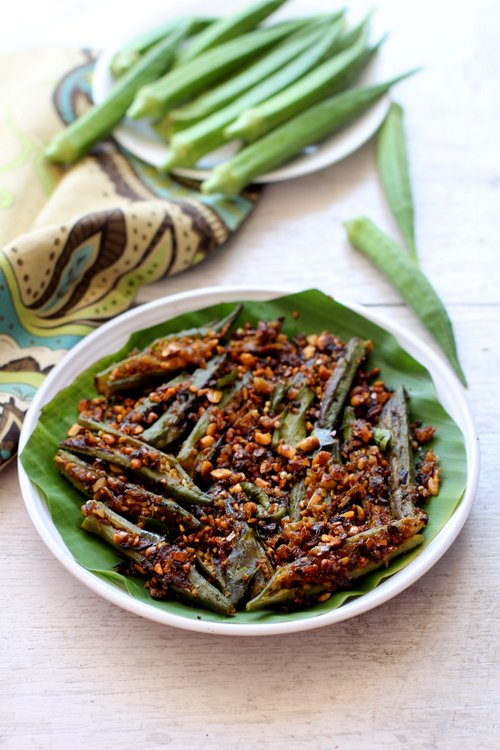 Bharwa Bhindi Stuffed Bhindi Bhindi Recipes