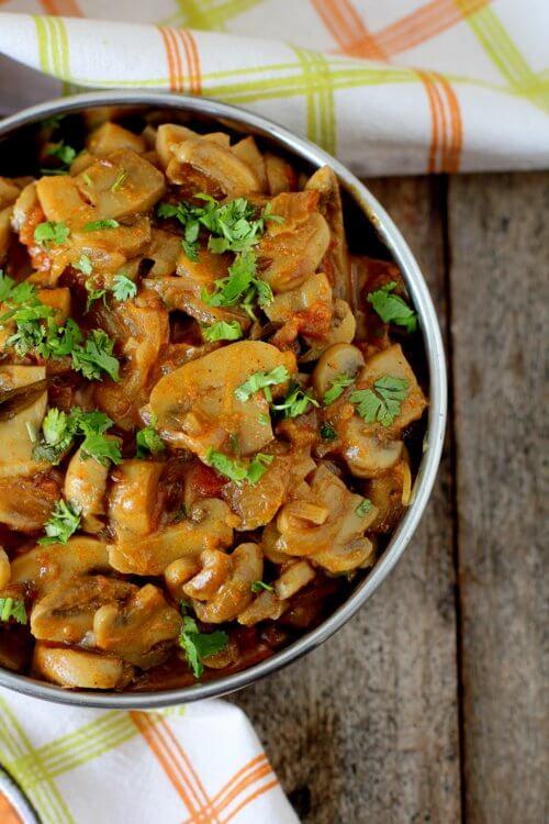 mushroom fry recipe