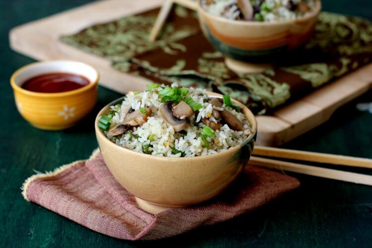 how to make mushroom fried rice