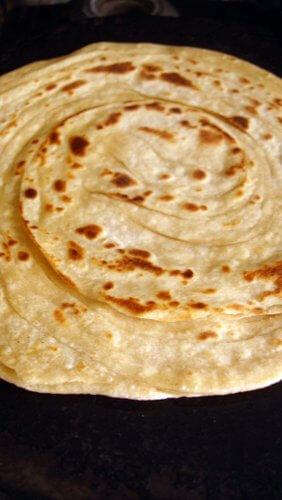 lachha paratha roasted