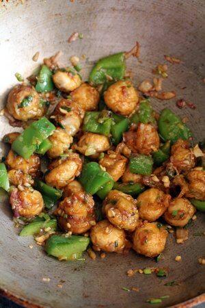 mushroom manchurian dry recipe
