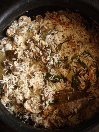 veg mushroom pulao recipe