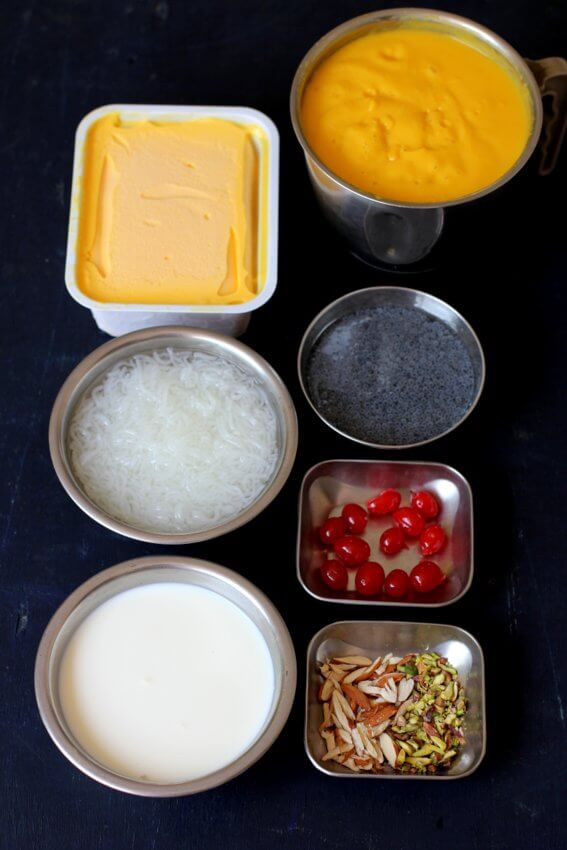 mango faluda ingredients