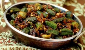 how to make bhindi fry recipe indian style okra with onions