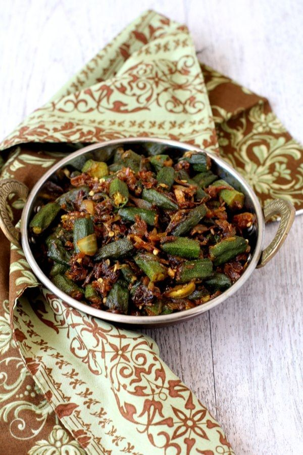 bhindi fry recipe ladies finger vegetable Indian style