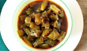 sweet and sour green chilli pickle