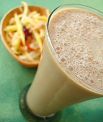 cold coffee raw papaya salad - *cold coffee*