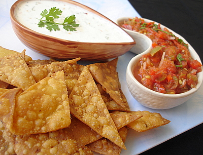 Corn Chips with Salsa & Sour Cream